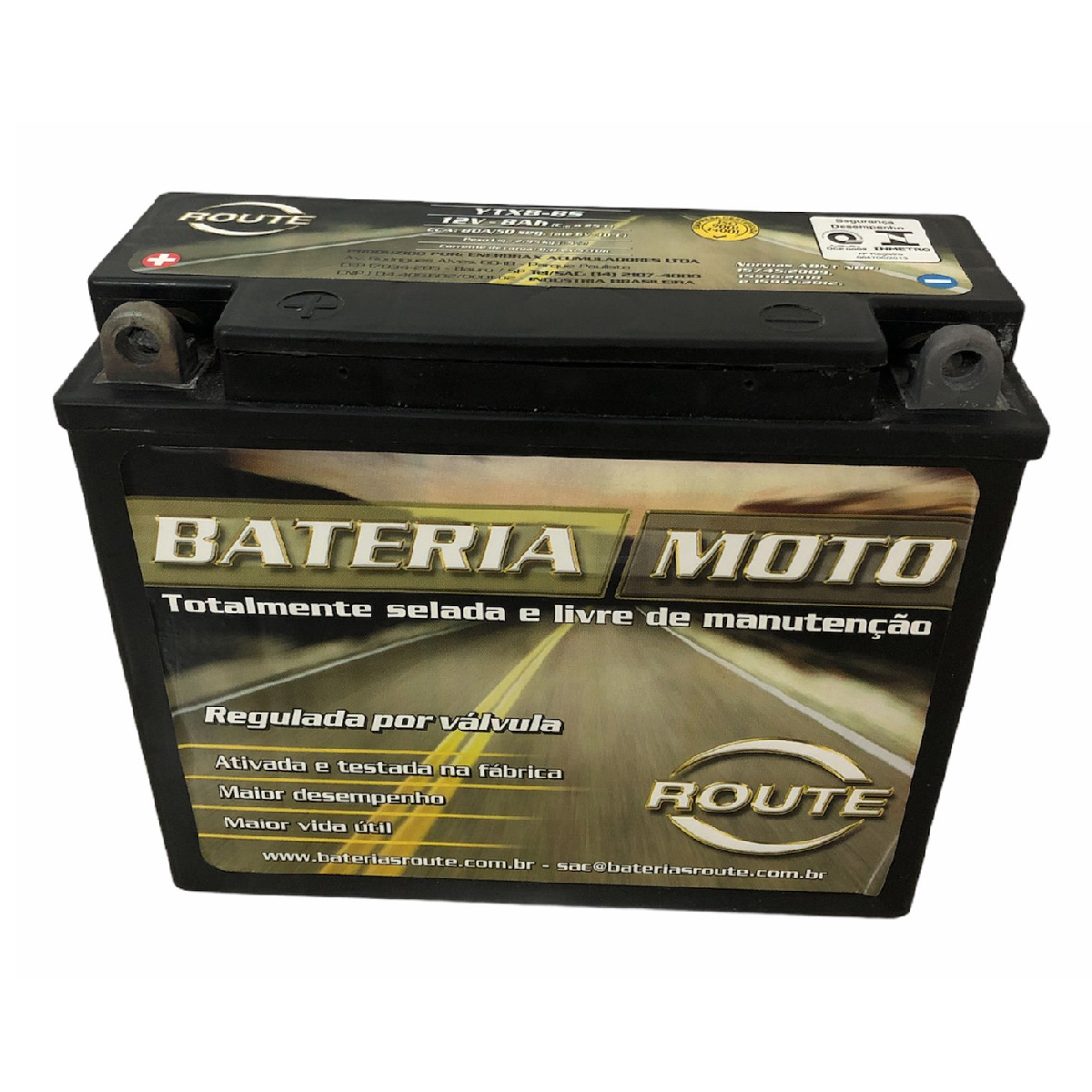 Bateria de Moto Route YTX8-BS 12v 8ah