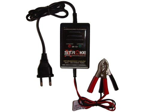 Carregador de Bateria Stroke Power 2ah 12v com Led