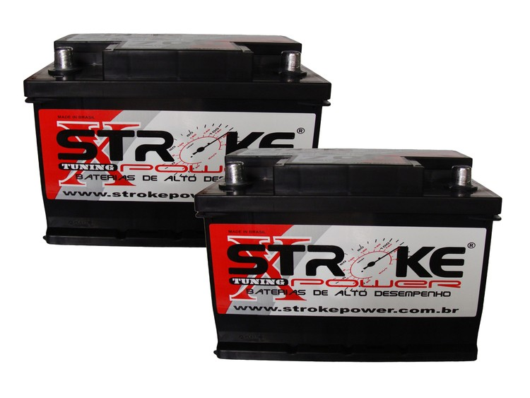 Kit 2 Baterias Som Automotivo Stroke Power 80ah 700ah/pico