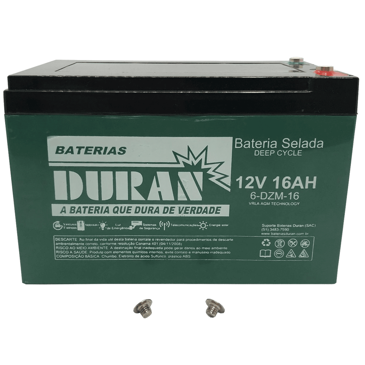Kit 5 Baterias Selada Gel Ciclo Profundo Duran 16ah 12v 6-dzm-12