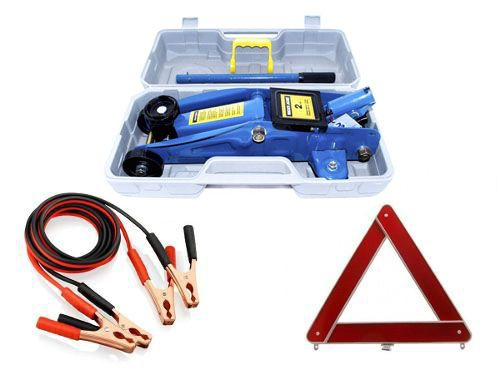 kit Estepe Automotivo Carro Macaco 2t Cabo Ponte Triangulo