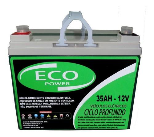 Kit 2 Baterias Eco Power 12v 35ah Cadeira De Rodas