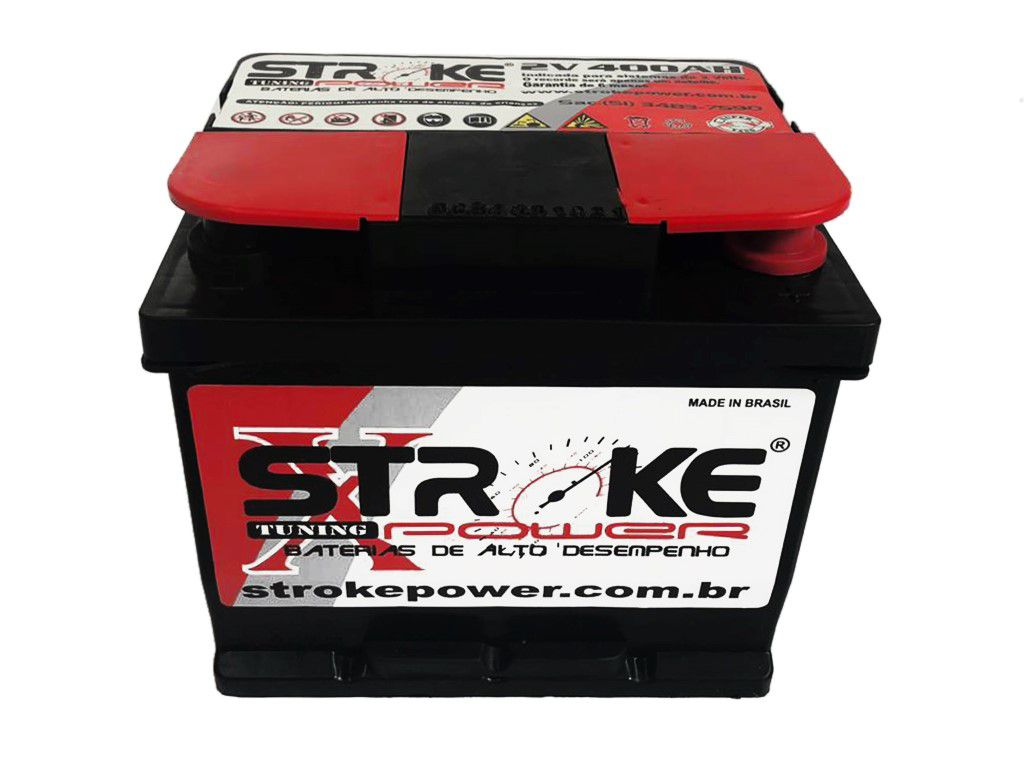 Vaso Auxiliar 2 Volts 400ah (super) Stroke Power. Ideal Para Som.