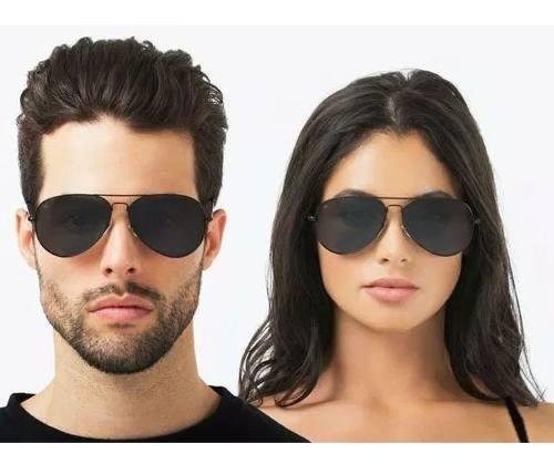 Óculos De Sol Aviador Black 3026 Aviator Confort Unissex