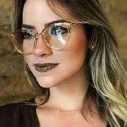 Armação De Oculos Grau Transparente Dourado Redondo 5803