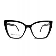 Armação de Óculos de Grau Gatinho Grande Retro Black Nubia 616