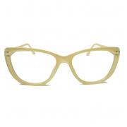 Armação De Óculos De Grau Gatinho Varnish Retro Transparente 1261 Nude Lucy