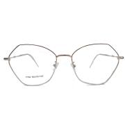 Armação de óculos de grau Hexagonal Metal Geométrico Roud Rose 389
