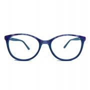Armação de Óculos de Grau Redondo Flower Lavanda 126 Eliana