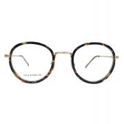 Armação de óculos de grau Redondo Round tartaruga 8115 Steel