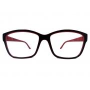 Armação de Óculos de grau Retangular 8045 Marino Red Verniz