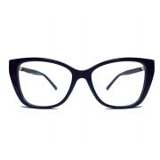 Armação de oculos de grau Strass na lateral Cat Red 68158 Swar Brilhos Tulipa