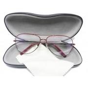 Armação De Oculos Grau Aviador metal 6049 Leve e Confortável