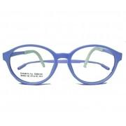 Armação De Óculos Infantil Redondo Silicone Inquebrável anti queda Soft kids 609