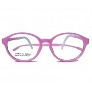 Armação De Óculos Infantil Redondo Silicone Inquebrável anti queda Soft kids Rosa