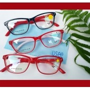 Armação De Óculos para grau Vermelho Ruby Wayf Retangular Hastes com abertura total