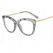 Armação De Oculos Transparente Mosaico Cristal Diamante Flat 3D Gatinho