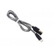 Cabo Carregamento Usb  Auxiliar V8 USB Celular CBO-5961  Áudio Estéreo 1 Metro preto