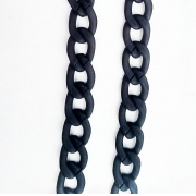 Corrente de óculos Salva Óculos Corrente em resina preto Fashion