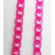 Corrente de óculos Salva Óculos Corrente em resina Rosa Pink Fashion