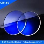 Lentes para Óculos em Policarbonato HMC SVision CR 1.56 Blue Cut Protection Digitais Visão simples