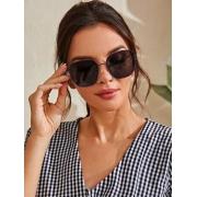 Óculos De Sol Quadrado de Metal feminino Purple HQQ1095 Stella