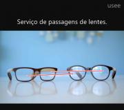 Serviço Óptica, remanejamento Passagem de lentes para armação com aro menor.