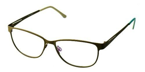 Armação De Oculos Retangular Metal 8415 Gree Verde