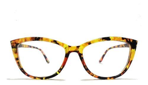 Oculos De Grau Armação Scarllet Tartaruga Gatinho Transparente