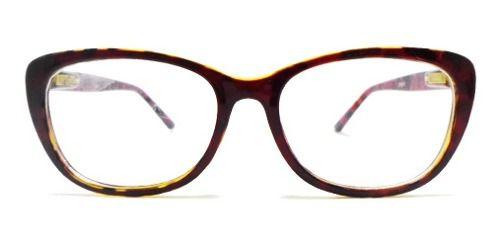 Oculos De Grau Armação Scarllet Oncinha Gatinho Bordo
