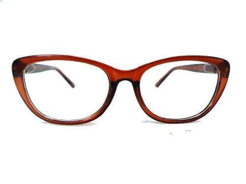 Armação De Oculos Receituário Gatinho Transparente Oncinha