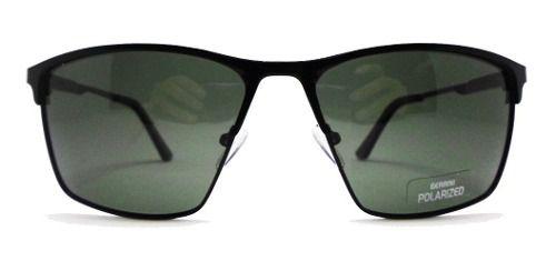 Óculos De Sol Hightlight Quadrado Black Alumínio Confortável