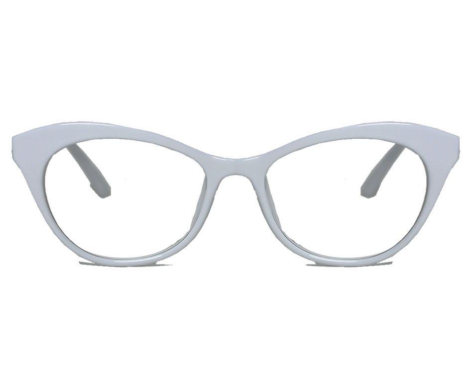 Armação De Óculos Branco Feminino Gatinho Retro Vintage White