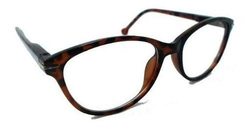Armação De Oculos Carolina Redondo Oncinha Black Transparente