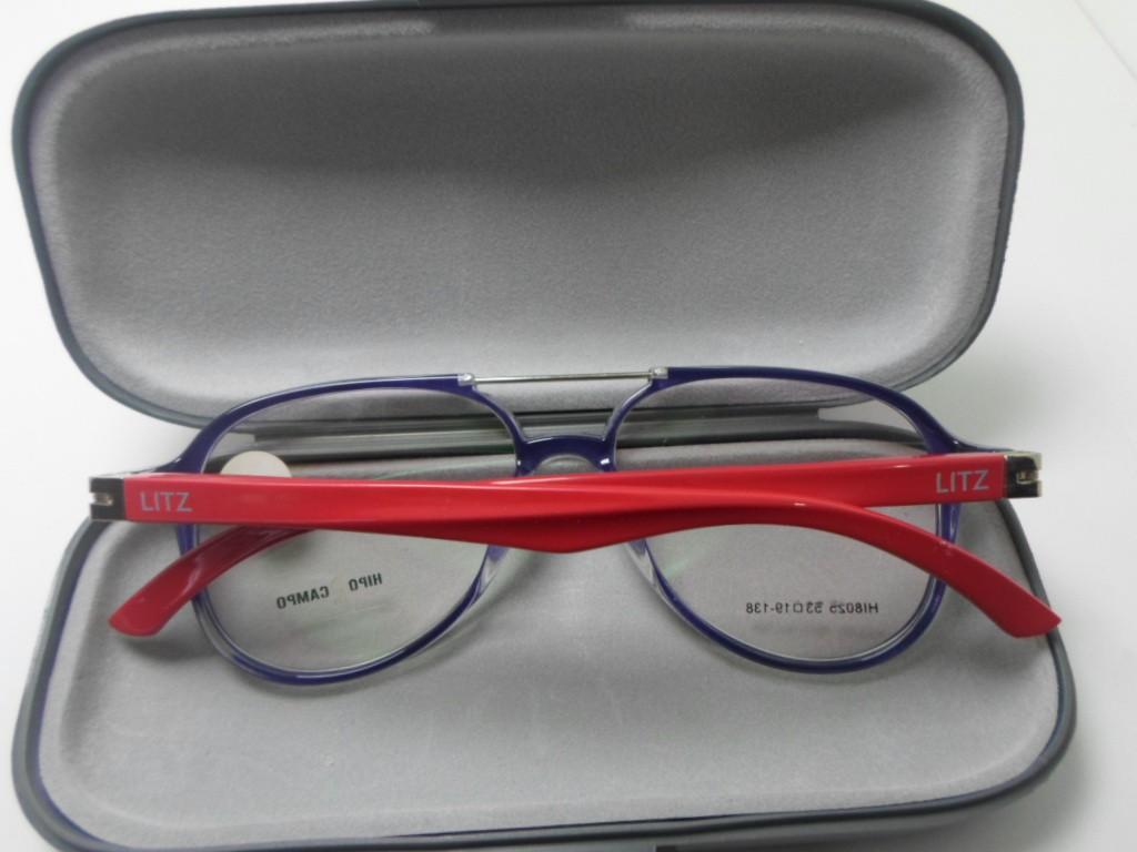 Armação De Oculos de grau Aviador 4298 Acetato Grandmaster Blu e Red