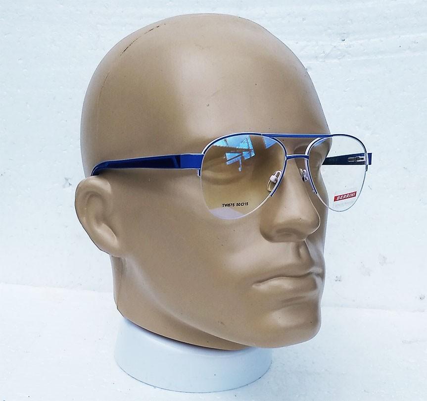 Armação de oculos de grau Aviador Blu Small Clássico Atlanta Meia Taça Azul