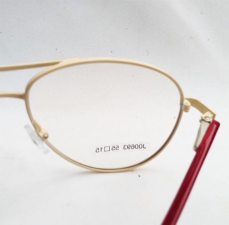 Armação de oculos de grau Aviador Clássico Degradê Bordo Bege Atlanta