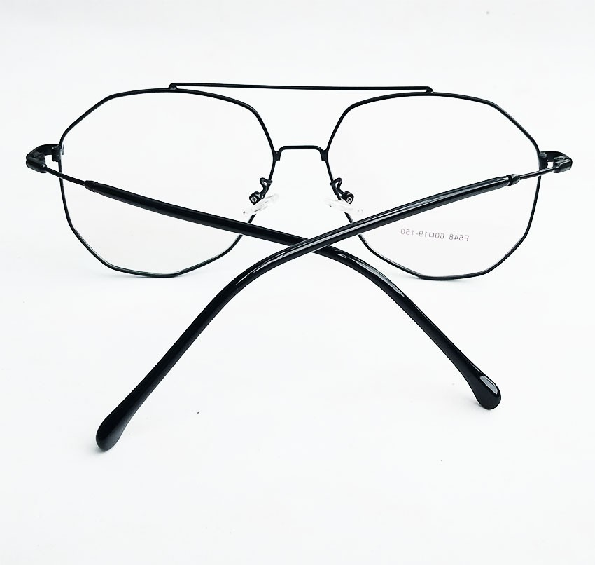 Armação de Óculos de grau Aviador Grande Hexagonal Metal F548