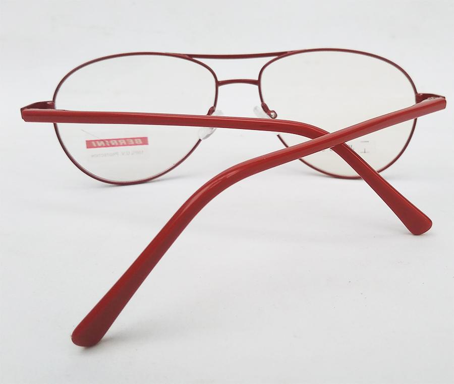 Armação de óculos de grau Aviador Metal Atlanta Red 489 Vermelho