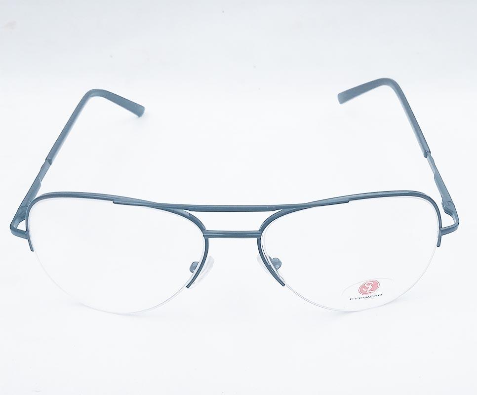 Armação de Óculos de Grau Aviador Metal Nylon Black 6513
