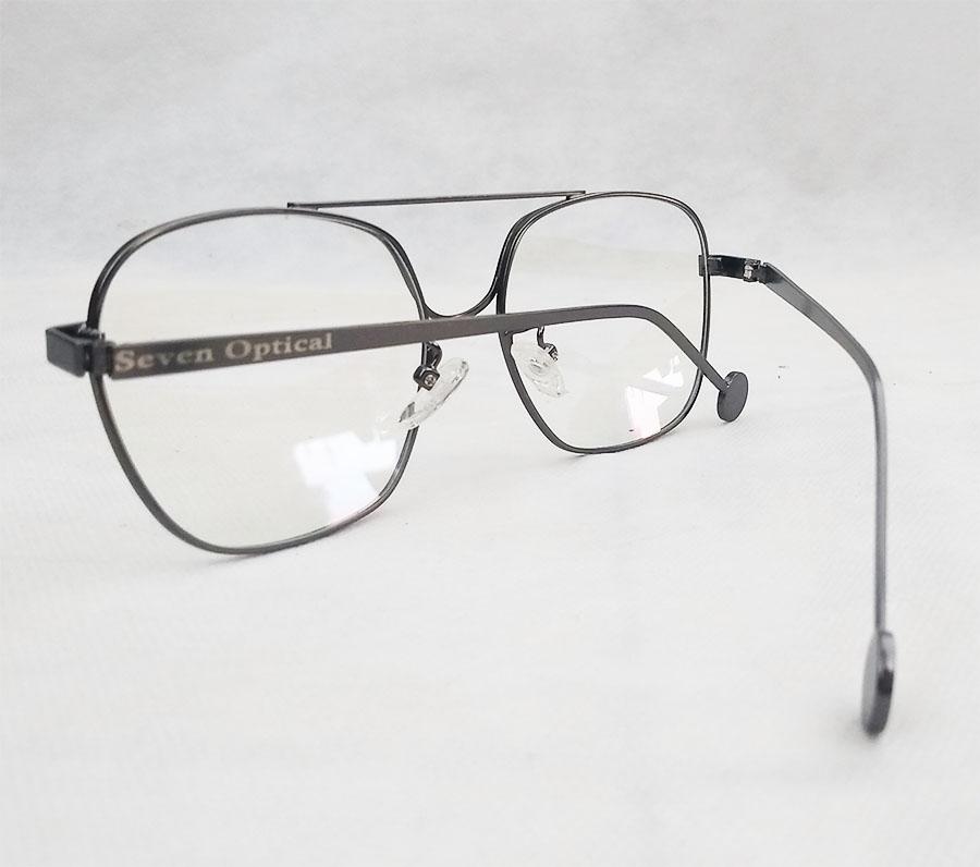 Armação de óculos de grau Aviador Metal Quadrado Retro Gravite Louis