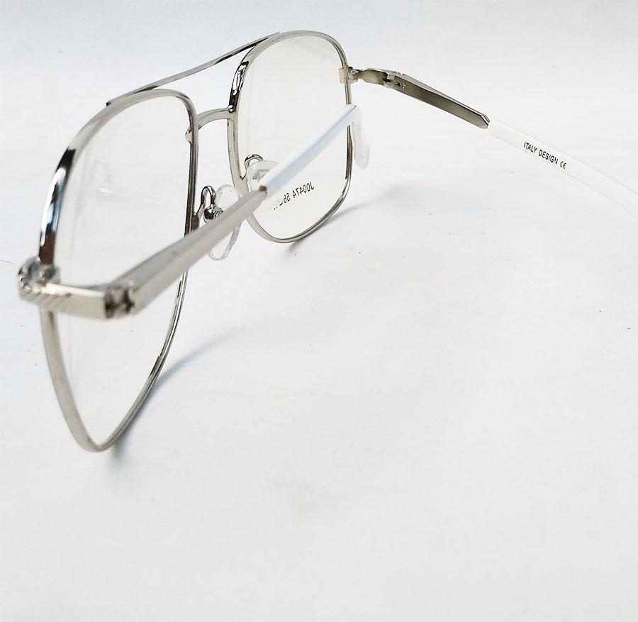 Armação de Óculos de grau Aviador Quadrado Grande Metal New Square Steel 474
