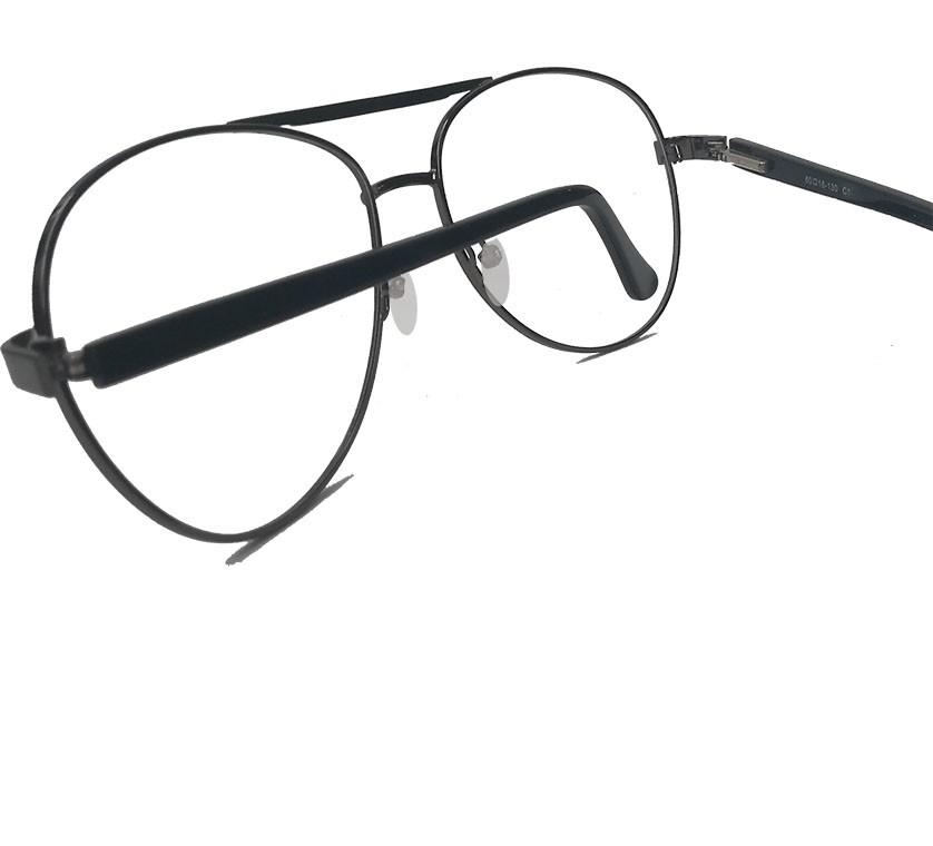 Armação de Óculos de grau Aviador Redondo Metal Lisboa