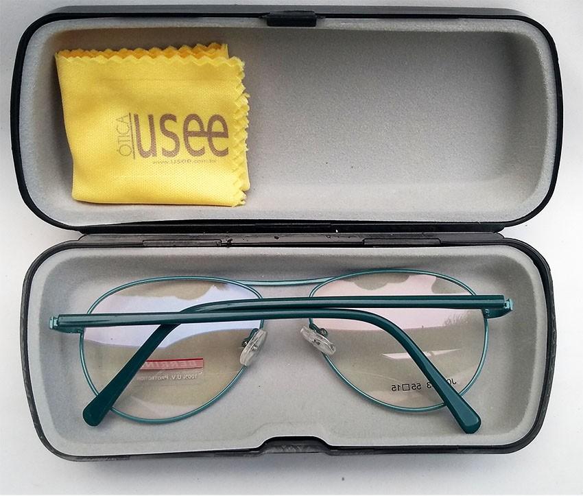 Armação de oculos de grau Juvenil Aviador Verde Bco Green