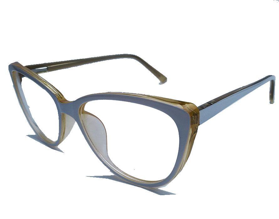Armação De Óculos de grau Branco Feminino Gatinho Retro White Glass