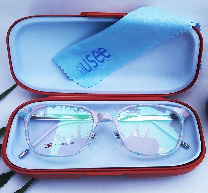 Armação de oculos de grau Redondo Estampado floral 870 Carol Mxedip Titanuim