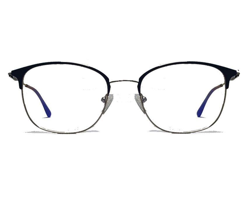 Armação De Óculos De Grau Feminino Metal Roxo Cat 4144 Bella