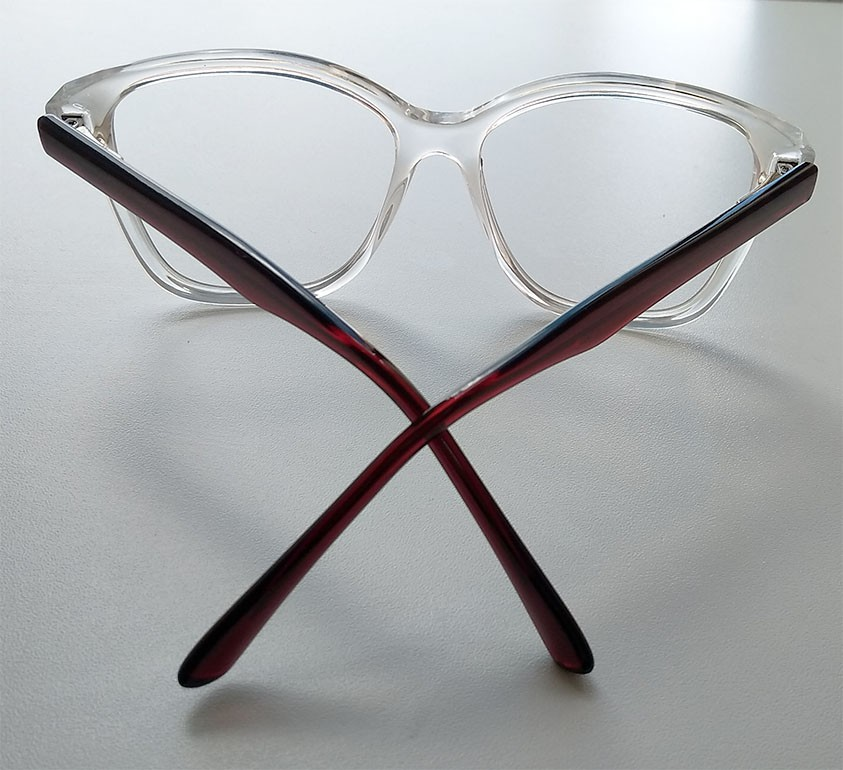 Armação de oculos de grau feminino Transparente quadrado Grande Cristal