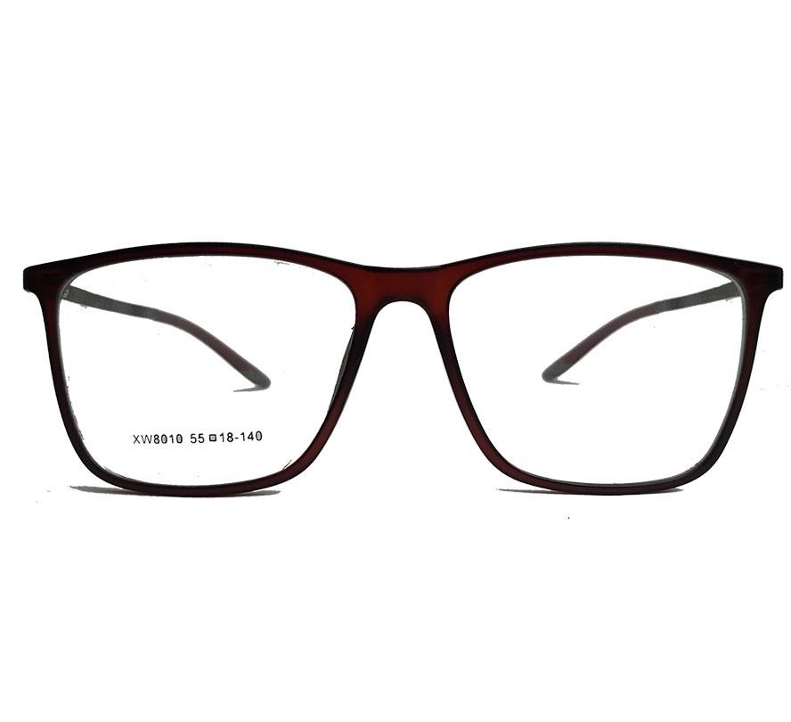 Armação de Óculos de grau Fibra de Carbono Light Brown 8010 Luca