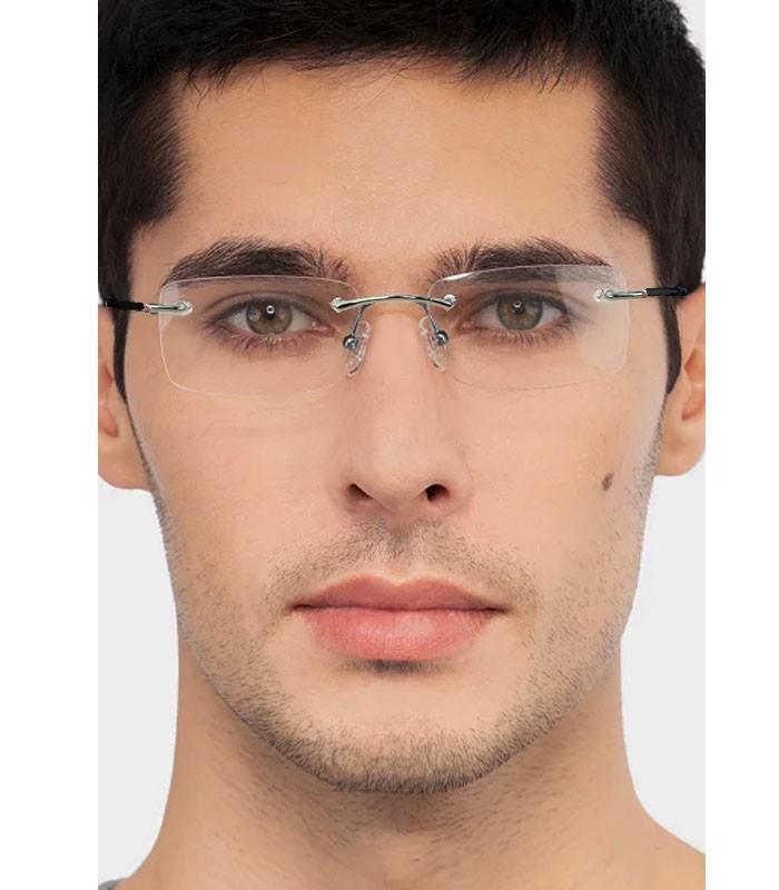 Armação de Óculos de grau flutuante Parafusada Titânio Caili Optic